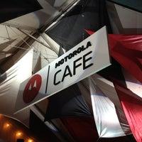 Photo taken at Motorola Cafe by Damien B. on 3/16/2012