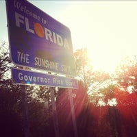 Photo taken at Florida / Georgia State Line by Vicki P. on 5/5/2012