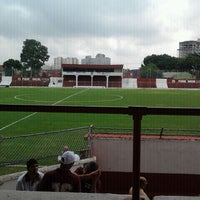 Photo taken at Estádio Conde Rodolfo Crespi by Guilherme P. on 3/3/2012