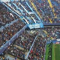 Photo taken at Estadio La Rosaleda by Victor M. on 4/29/2012