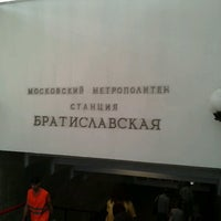 Photo taken at metro Bratislavskaya by Анастасия А. on 7/26/2012