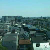 Photo taken at Osaka Monorail Hotarugaike Station by Shiu S. on 8/10/2012