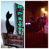 Photo taken at Hip Kitty Jazz & Fondue by Sam S. on 4/15/2012