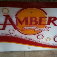 Photo taken at Amber Restaurant by Rhina G. on 5/1/2012