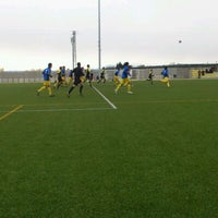 Photo taken at Camp De Futbol De St. Pere Pescador by Jaume S. on 2/5/2012