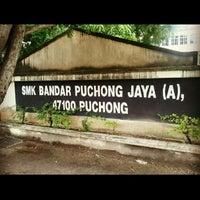 Photo taken at SMK Bandar Puchong Jaya (A) by Jozephine W. on 7/19/2012