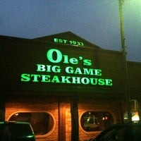 Photo taken at Ole's Big Game Steakhouse by Chris S. on 4/15/2012