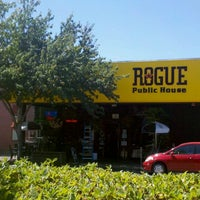 Photo taken at Rogue Ales Public House & Brewery by Jake R. on 8/19/2012