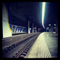 Photo taken at Zurich Airport Railway Station by Thomas L. on 9/8/2012