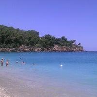 Photo taken at Spiaggia San Vito Lo Capo by Marcello B. on 7/19/2012