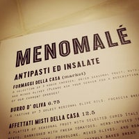 Das Foto wurde bei Menomalé Pizza Napoletana von Dottie L. am 6/2/2012 aufgenommen