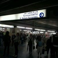 Photo taken at Estação Jabaquara (Metrô) by Paulo V. on 4/30/2012