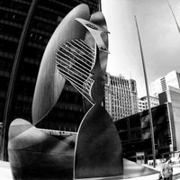 Photo taken at Daley Plaza Picasso by George C. on 7/5/2012