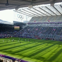Photo taken at St James' Park by Nelson M. on 7/29/2012