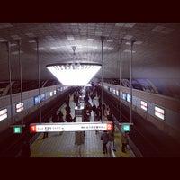Photo taken at Midosuji Line Shinsaibashi Station (M19) by Michihiro K. on 2/6/2012