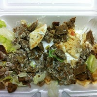 Photo taken at Mediterranean Halal Food Cart by Tyler S. on 3/30/2012