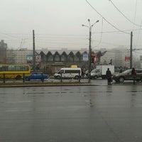 Photo taken at Остановка «Ст. м. Пионерская» by Olga S. on 4/17/2012