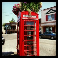 Photo taken at Sir Giles Gilbert Scott Telephone Booth by Lizzie D. on 7/7/2012