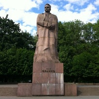 Photo taken at Пам'ятник Івану Франку / Ivan Franko Monument by Anton S. on 5/26/2012