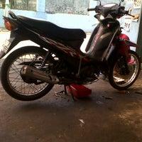 """Photo taken at Nusantara Abadi Motor """"SharrK Racing Team"""" by Estha P. on 6/23/2012"""