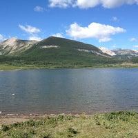 Photo taken at Mittens Lake - Blackfeet Indian Reservation by Pete G. on 7/1/2012