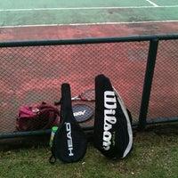 Photo taken at Quadra Tênis by Mr. M. on 4/29/2012