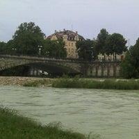 Photo taken at Wittelsbacherbrücke by Baltasar on 6/12/2012