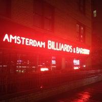 Photo taken at Amsterdam Billiards & Bar by Craig D. on 5/22/2012