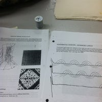 Photo taken at GSU Textiles room by Lindsey B. on 3/7/2012