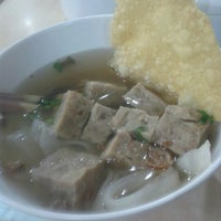 Photo taken at Mister Bakso Tamini Square by Tya K. on 8/4/2012