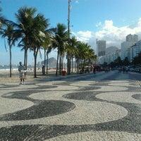 Photo taken at Calçadão do Leme by Filipe C. on 5/20/2012