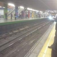 Photo taken at Metro Moncloa by Roberto N. on 4/10/2012
