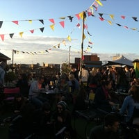 Photo taken at Rooftop @ Queen Of Hoxton by cøsina w. on 6/9/2012