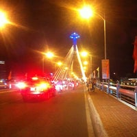 Photo taken at Han River Bridge by Ryan F. on 7/8/2012