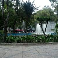 Photo taken at Plaza Luis Cabrera by Kat R. on 8/27/2012