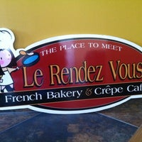 Photo taken at Le Rendez Vous French Bakery And Crepe Cafe by Angel P. on 4/5/2012
