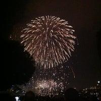Photo taken at Harvard Bridge by Yaejin K. on 7/5/2012