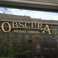 Photo taken at Obscura Antiques and Oddities by Mark B. on 4/12/2012