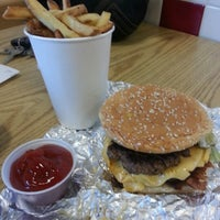Photo taken at Five Guys by Zach Y. on 9/10/2012