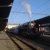 Photo taken at Prague Masaryk Railway Station by Honza P. on 5/26/2012