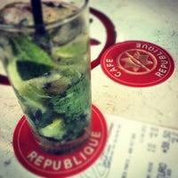 Photo taken at Café République by Jonathan L. on 4/11/2012
