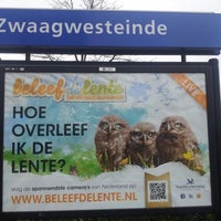 Photo taken at Station De Westereen by Gerben D. on 4/28/2012