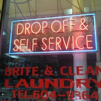 Photo taken at Brite & Clean Laundry by Dani M. on 8/7/2012