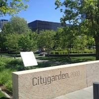 Photo taken at Citygarden by Ellen T. on 4/6/2012