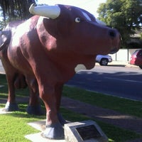 """Photo taken at """"Big Red"""", The Mallee Bull by Jason T. on 7/6/2012"""