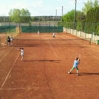 Photo taken at Röpte teniszpálya/lelátó :o) by Anikó Z. on 4/26/2012