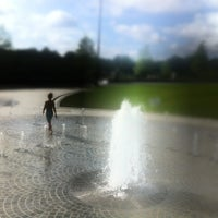 Photo taken at Piedmont Park Legacy Fountain by Geoff G. on 7/15/2012