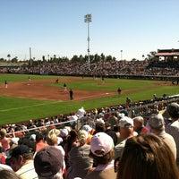 Photo taken at Scottsdale Stadium by Chelsea V. on 3/3/2012
