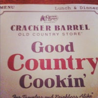 Photo taken at Cracker Barrel Old Country Store by David S. on 5/31/2012