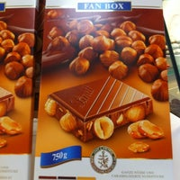 Photo taken at Lindt Chocolate by Phett G. on 2/8/2012
